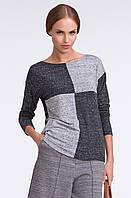 Женская кофта серого цвета с длинным рукавом. Модель U24 Sunwear.