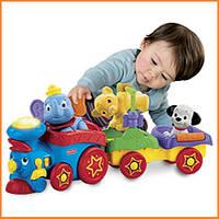 """Развивающая музыкальная игрушка Fisher Price паровоз """"Чух-Чух"""" с животными"""