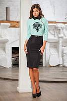 Женское платье в офисном стиле с ремнем (три цвета)