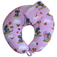 Комплект для кормления Слоники на розовом фоне