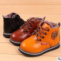 Утепленные детские ботиночки,3 цвета