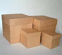 Набор коробок подарочных из крафт картона, 11 шт.