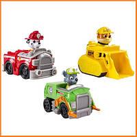 """Игровой набор """"Три щенка на спасательных автомобилях"""" Щенячий патруль / Paw Patrol Spin Master"""