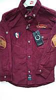 Рубашка бордовый вельвет, одежда для мальчиков 116-140