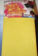 Бумага для творчества разноцветная гофрированная (крепированная) 2000*500мм. Цвет желтый.