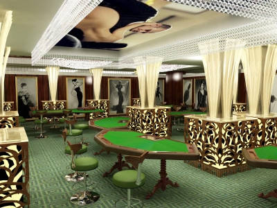 Освещение для игрового зала и казино