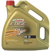 Моторное синтетическое масло Castrol (Кастрол) EDGE TURBO DIESEL 0W-30 Titanium 4л.