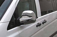 Накладки на зеркала Mercedes Vito/ Viano 639 (мерседес вито 639) 2004-2010 ,нерж. Carmos