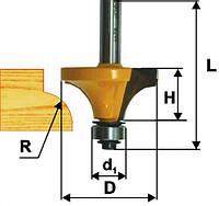 Фреза кромочная калевочная ф26.6х16, r8, хв.8мм (арт.9242)