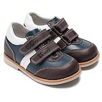 Кожаные ортопедические туфли на мальчика, размер 20-30
