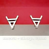 Символ Велеса серёжки из серебра
