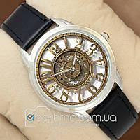 Часы мужские наручные с принтом Retro Mechanic Silver/Black