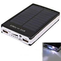 Портативное зарядное устройство на солнечной батарее Power Bank Solar 15000mah