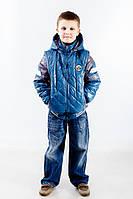 Детская демисезонная куртка - жилет для мальчика, р.  116-146