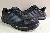Кроссовки мужские Adidas daroga черные / кожа / осень-весна