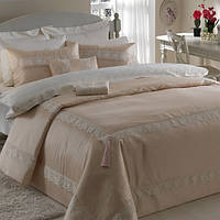 ТАС Exclusive Abiya Nemesis beyaz постельного белья сатин с вышевкой