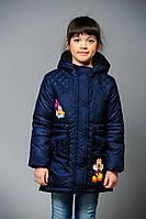 """Детская куртка парка """"Микки"""" cиняя (размер 122 см)"""