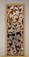 Стеклянные двери с рисунком 70х200 см