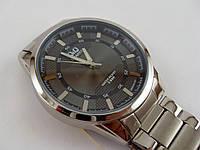 Мужские часы Q&Q Q890J202Y серебристые водонепроницаемые