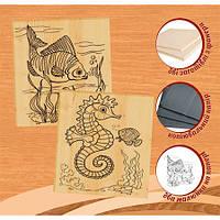 """Набор для выжигания по дереву 2 рисунка """"Морское дно"""" и """"Подводный мир""""  Артикул: 96228"""