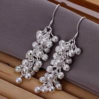 """Серьги Tiffany """"Гроздья"""", покрытие серебро 925"""
