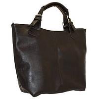 Женская сумка из кожзама, коричневая