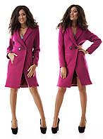 Женское пальто ткань букле 2 пуговицы