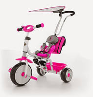 Детский трёхколёсный велосипед Boby Delux Milly Mally 7012 с подножкой (разные цвета)