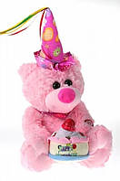 "Мишка ""Happy birhday"" с тортом поёт танцует, фото 1"