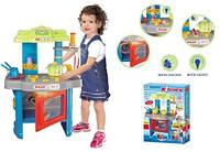 Кухня детская с плитой, посудкой и аксессуарами, свет, звук
