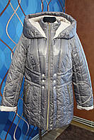 Зимняя куртка удлиненная на двойном синтепоне, размеры 48, 50, летняя цена