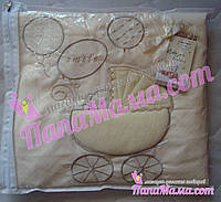 Сменное постельное белье для детской кроватки с авторской вышивкой