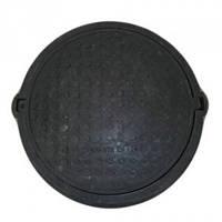 Люк  полимерпесчаный чёрный (14.5т) р.540/750