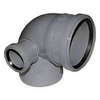 Угол правый (Колено) канализационный 110*90