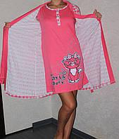 Комплект халат + ночная сорочка
