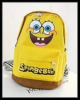Мини-рюкзак мочалка/губка Боб. Рюкзак для школы. Современные рюкзаки.Код: КСМ140