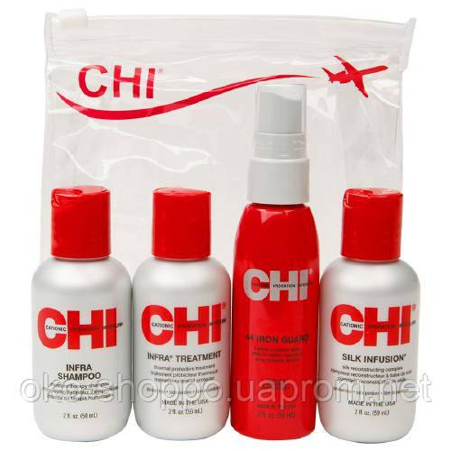 Мини-набор - шампунь, кондиционер, шелк для волос, термоспрей CHI Summer Travel Set, цена 480 грн., купить в Хмельницком - Prom.