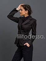 Пиджак классический черный до 58р