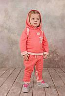 Гламурный спортивный костюм для девочки Модный карапуз 03-00562 Коралл 86