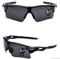 Мужские солнцезащитные очки спортивные черные, Очки для спорта, для велосипеда