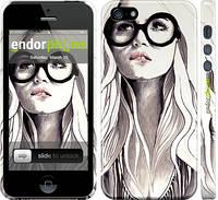 """Чехол на iPhone 5 Девушка с обложки """"2870c-18"""""""