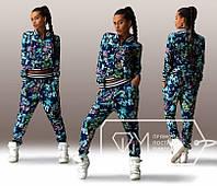 Женский спортивный костюм ЦВЕТЫ 3095, фото 1