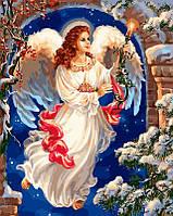 """Раскраска по номерам """"Рождественский ангел Худ Гелсингер Дона"""""""