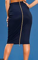 Модная женская юбка карандаш облегающая до колен на молнии трикотаж отто