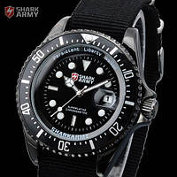 Армейские часы SHARK Army Black Японские механизм