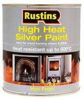 Термостойкая серебряная краска 250 мл.