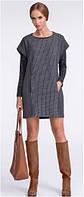 Платье женское, туника серая с коротким рукавом SUNWEAR