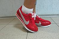 Кроссовки женские Nike Cortez красные кожа (8208-4)  код 586А