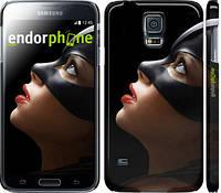 "Чехол на Samsung Galaxy S5 Duos SM G900FD Женщина кошка ""2943c-62"""