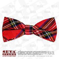 Галстук-бабочка Шотландка красная. Продажа и прокат.